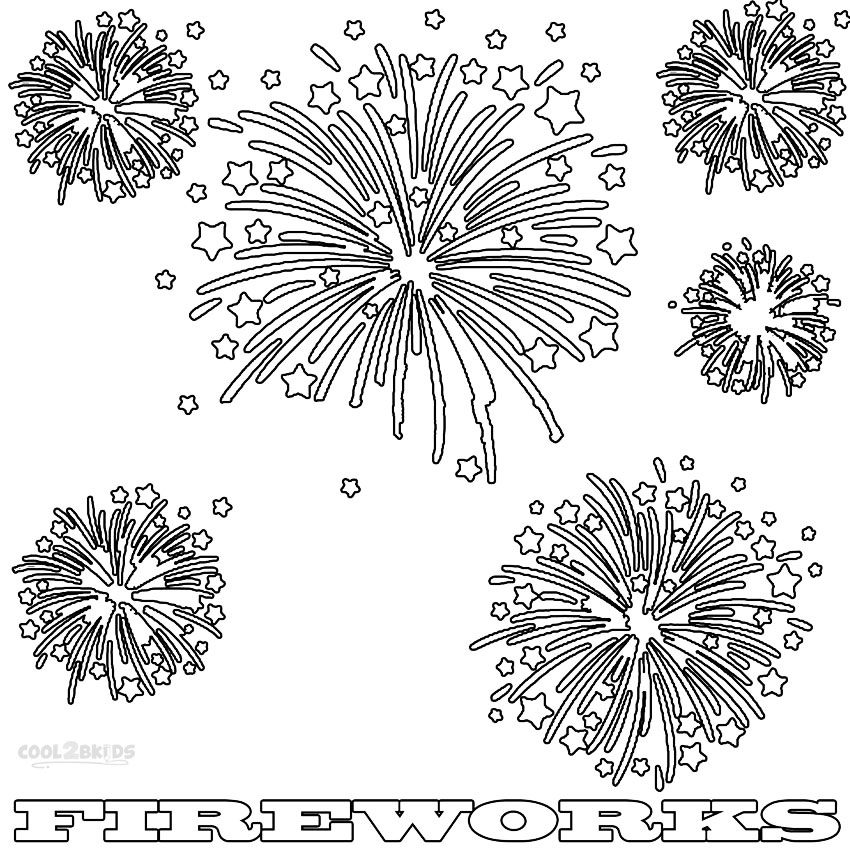 Fireworks coloring #15, Download drawings