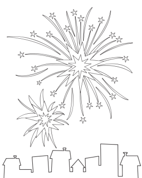 Fireworks coloring #11, Download drawings