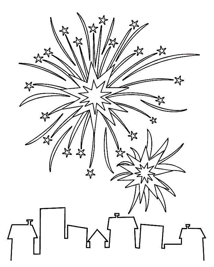 Fireworks coloring #8, Download drawings