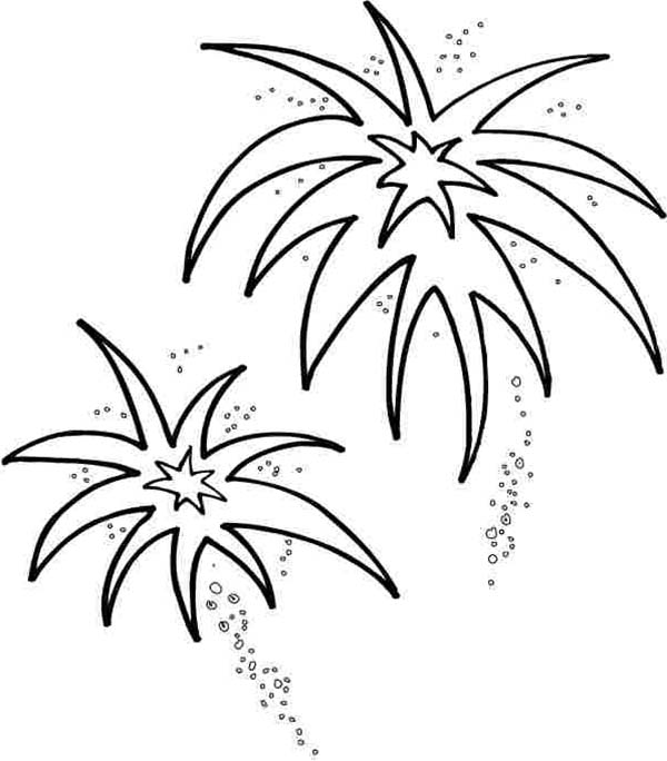 Fireworks coloring #4, Download drawings