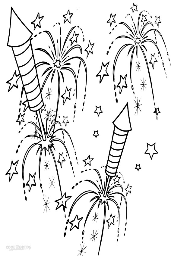 Fireworks coloring #19, Download drawings
