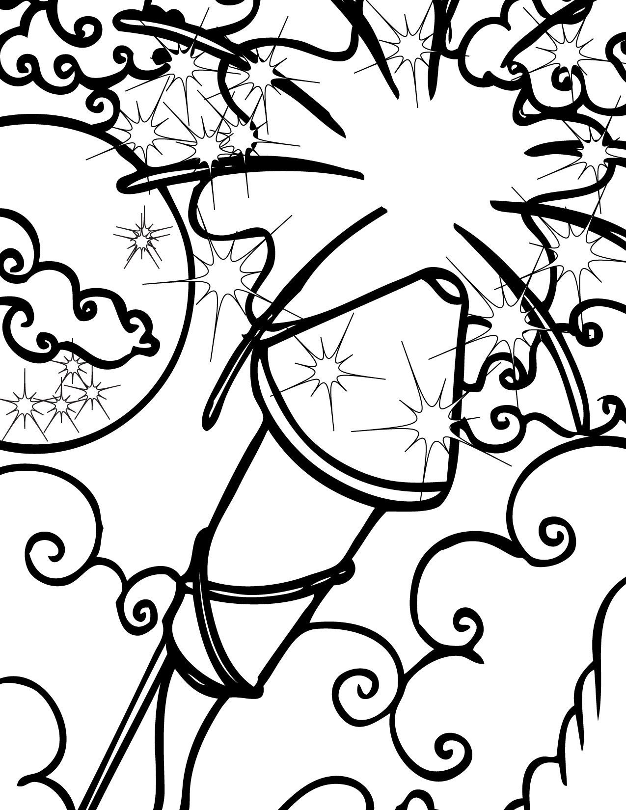 Fireworks coloring #14, Download drawings