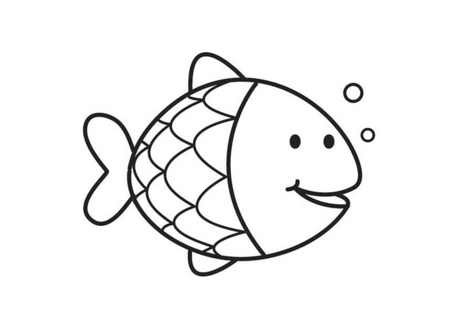 Fish coloring #20, Download drawings