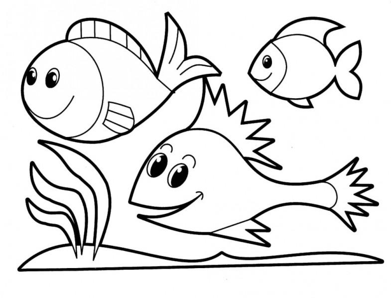 Fish coloring #8, Download drawings