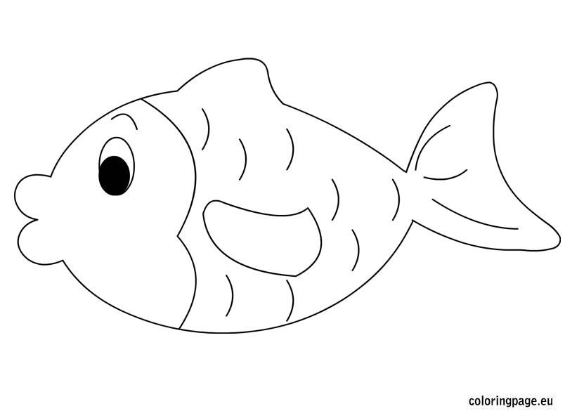 Fish coloring #10, Download drawings