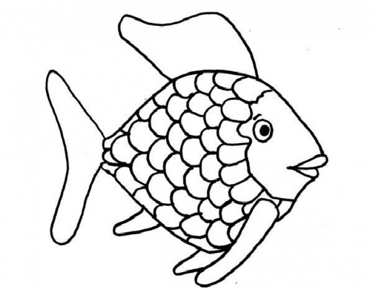 Fish pictures for kids to color