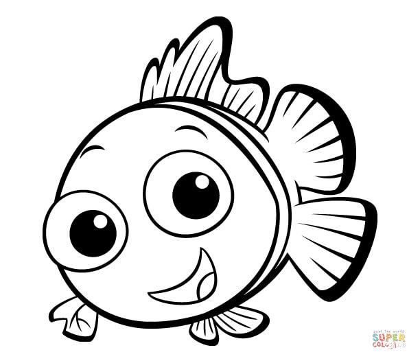 Fish coloring #15, Download drawings