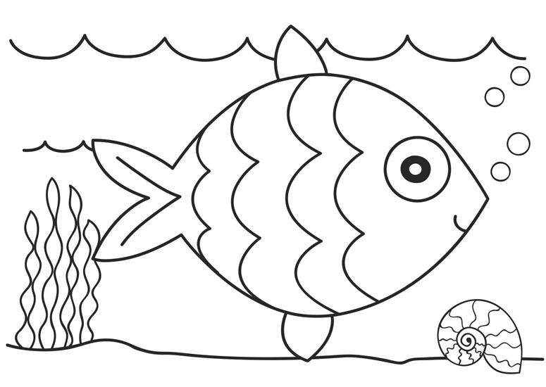 Fish coloring #17, Download drawings