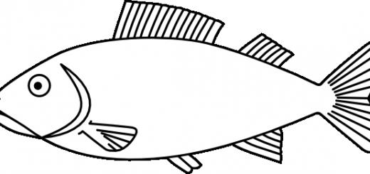 Fish coloring #2, Download drawings