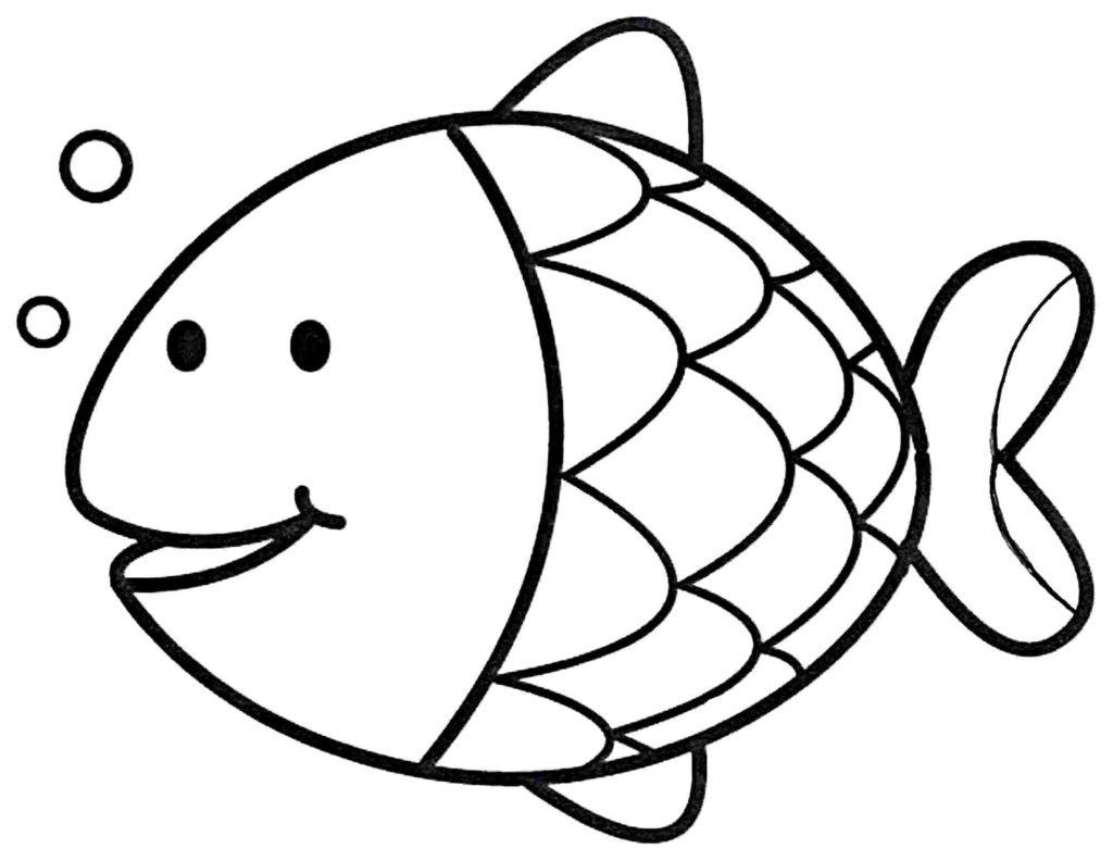 Fish coloring #16, Download drawings