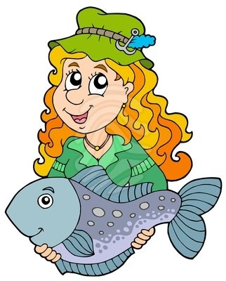Fish Girl clipart #3, Download drawings