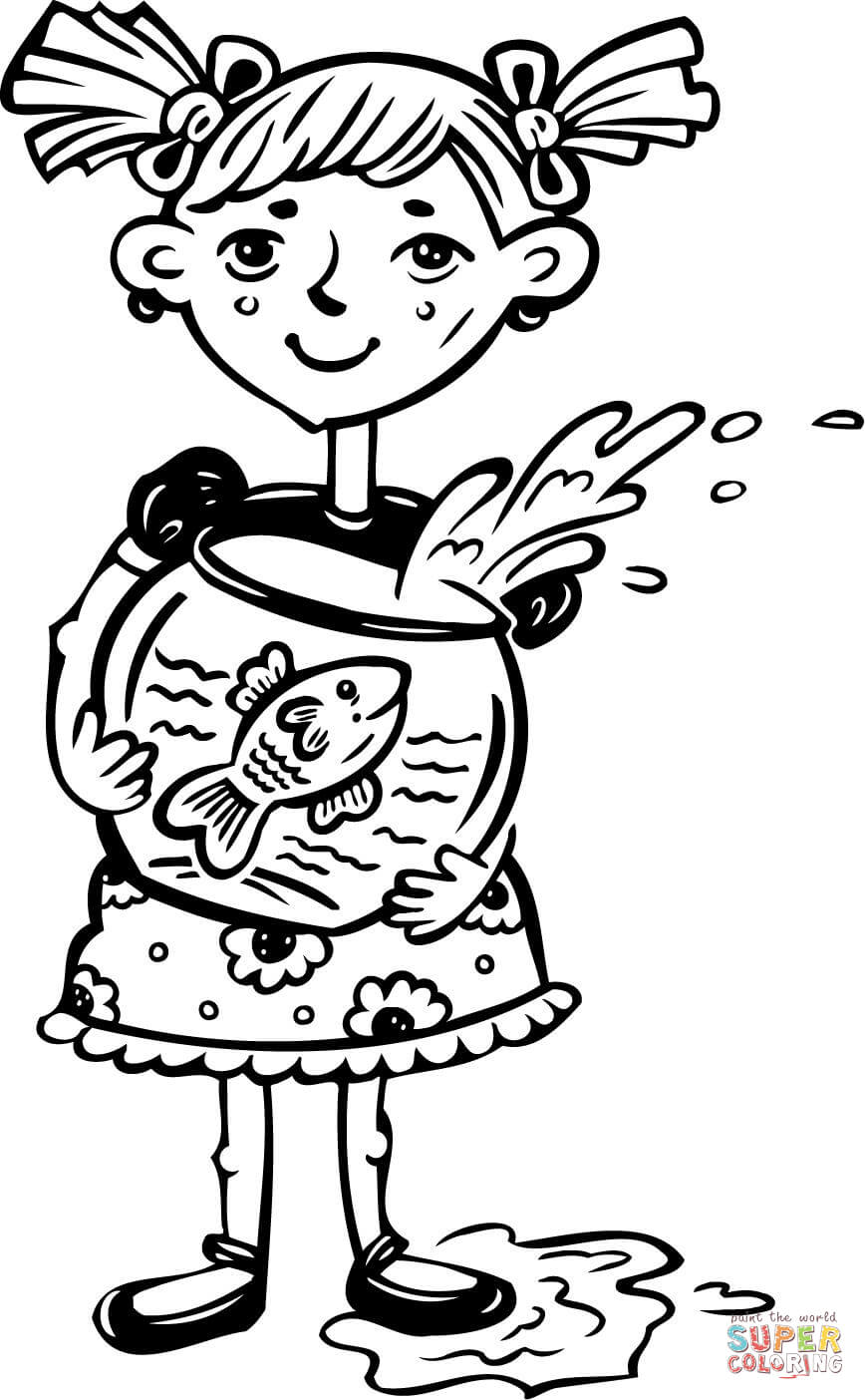 Fish Girl coloring #5, Download drawings
