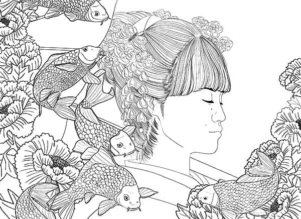 Fish Girl coloring #10, Download drawings