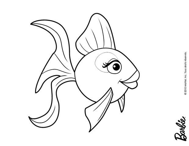 Fish Girl coloring #7, Download drawings