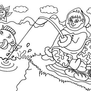 Fish Girl coloring #4, Download drawings