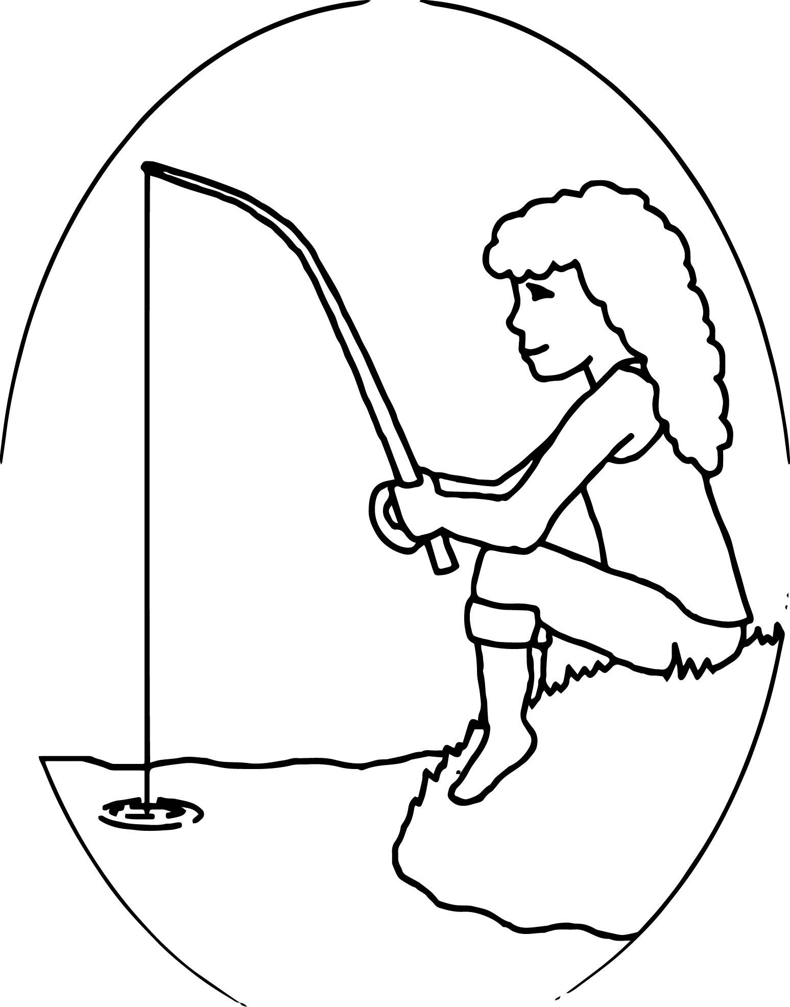 Fish Girl coloring #1, Download drawings