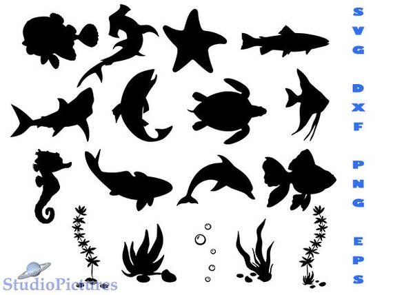 fish silhouette svg #464, Download drawings