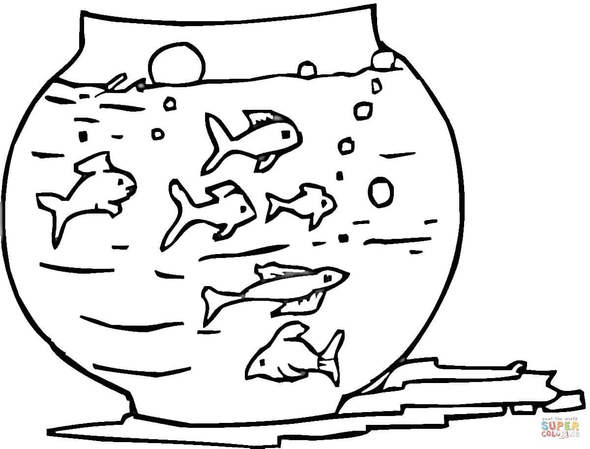 Fish Tank coloring #10, Download drawings