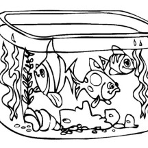 Fish Tank coloring #2, Download drawings