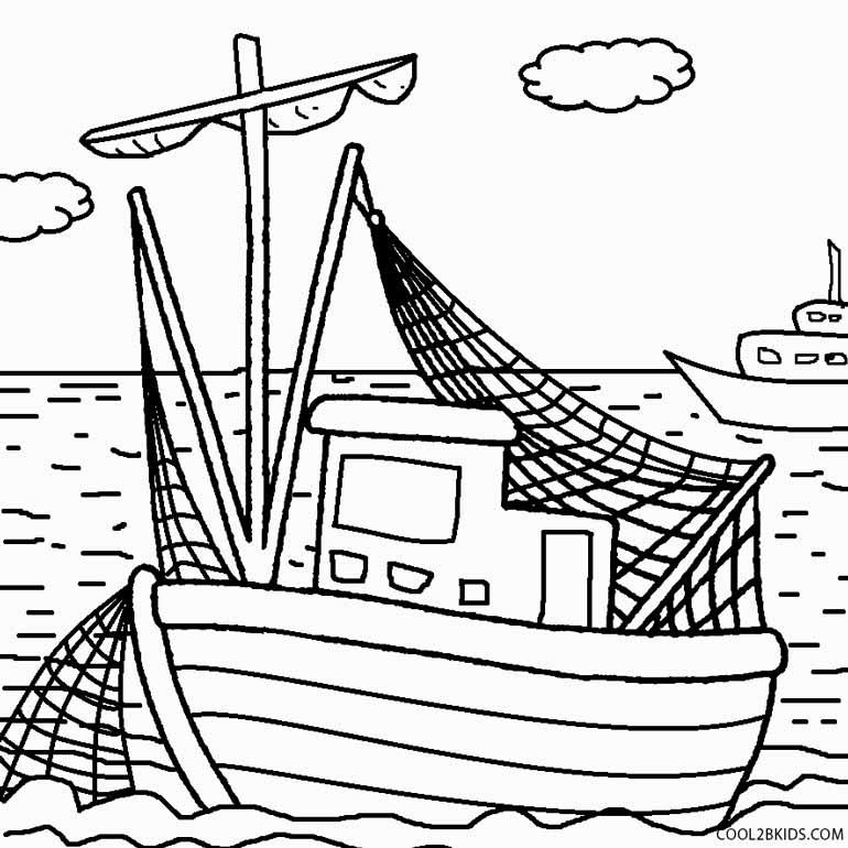 Fishing Boat coloring #16, Download drawings