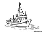 Fishing Boat coloring #4, Download drawings
