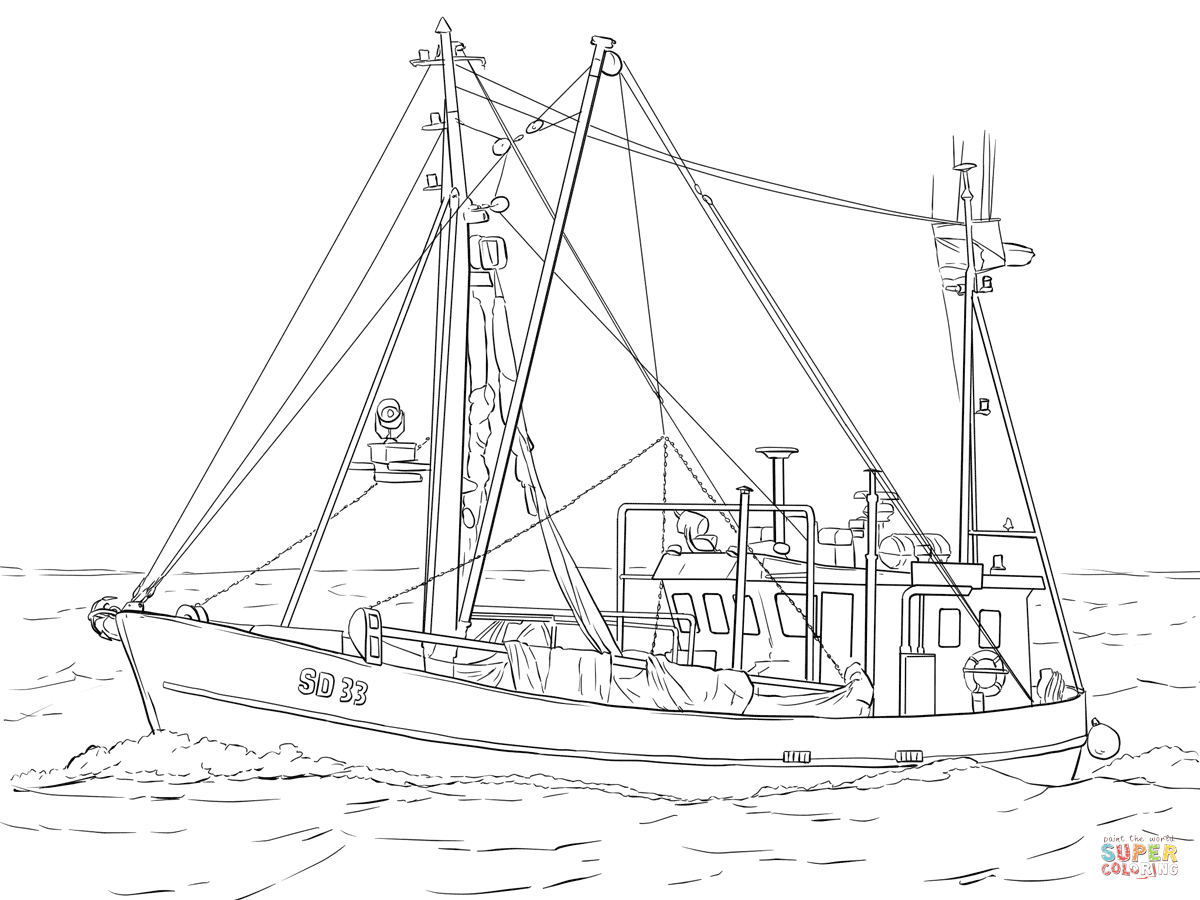 Fishing Boat coloring #14, Download drawings