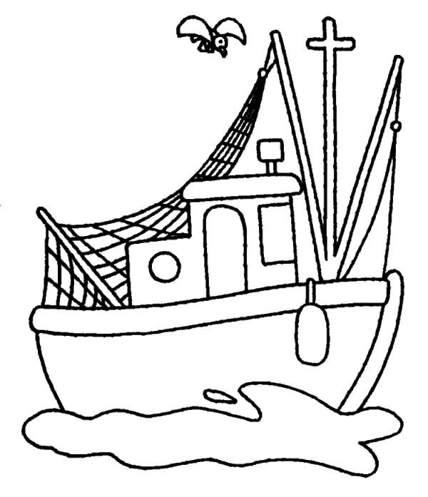 Fishing Boat coloring #19, Download drawings
