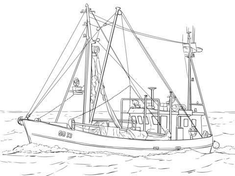 Fishing Boat coloring #15, Download drawings