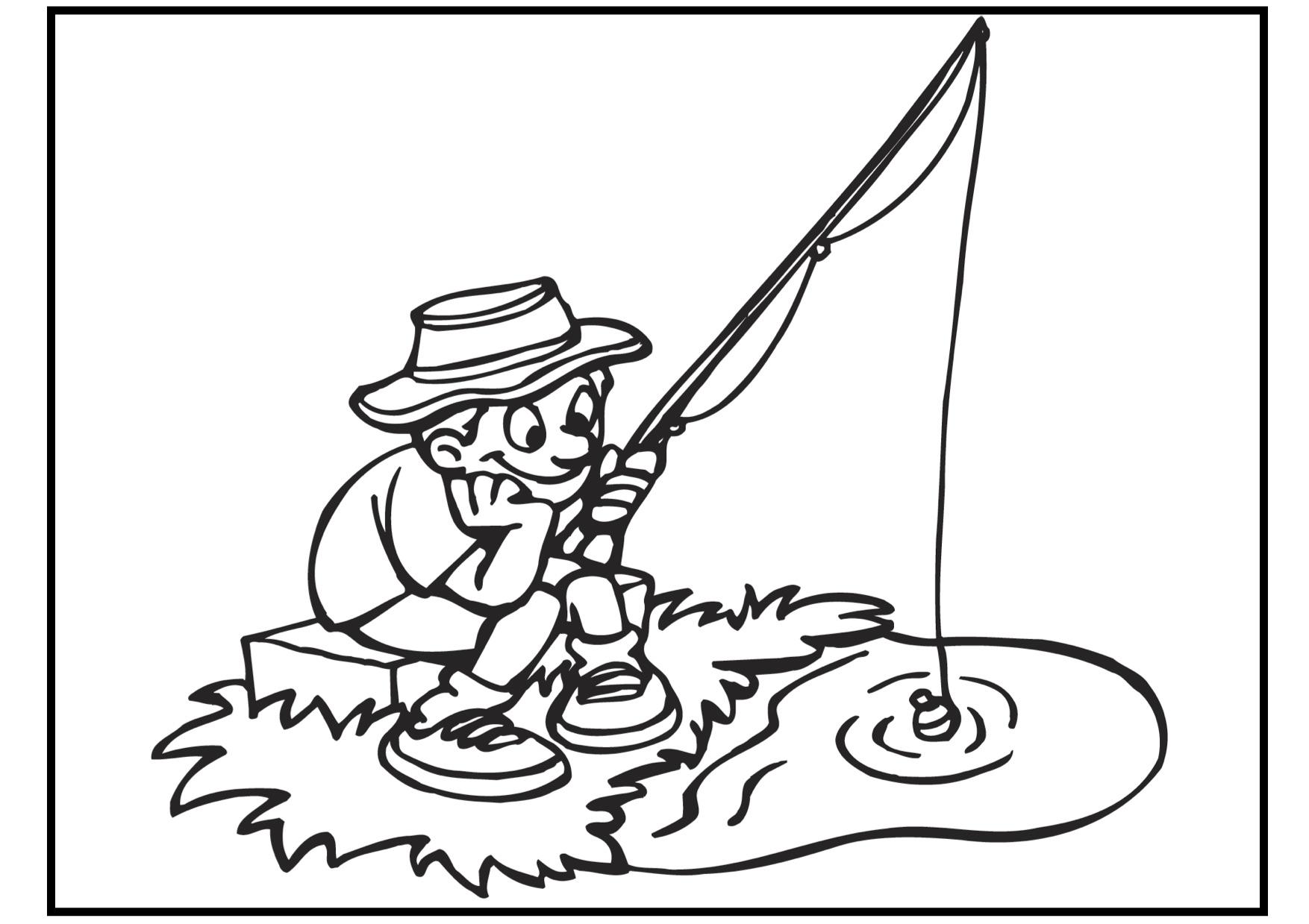 Fishing coloring #5, Download drawings