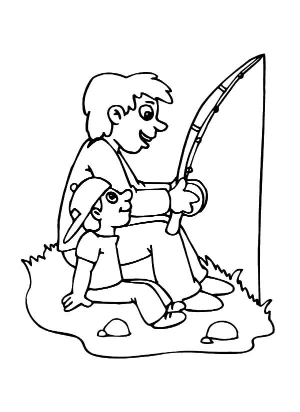 Fishing coloring #10, Download drawings