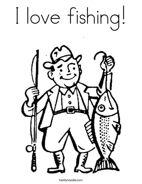 Fishing coloring #8, Download drawings