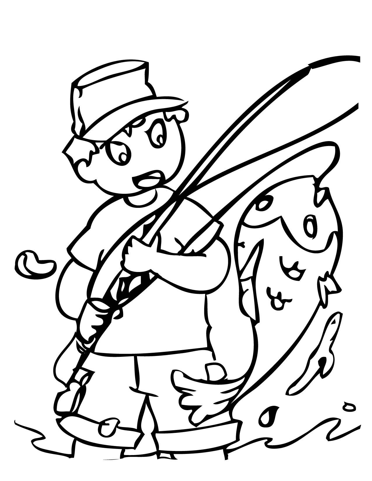 Fishing coloring #7, Download drawings