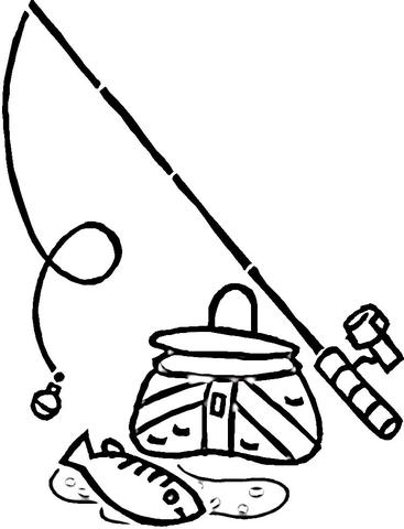 Fishing coloring #11, Download drawings