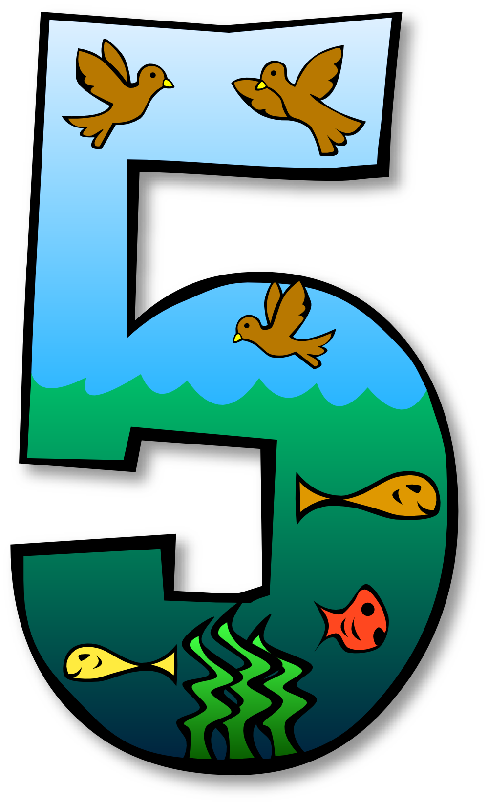 Five clipart #11, Download drawings