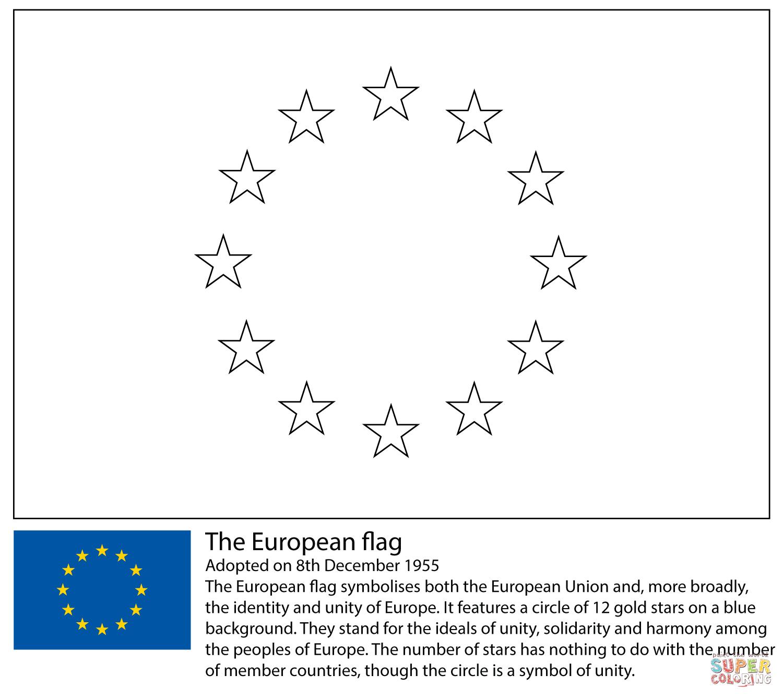 Flag coloring #2, Download drawings