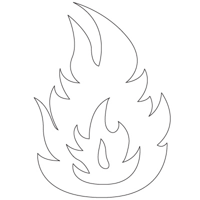Flame coloring #6, Download drawings