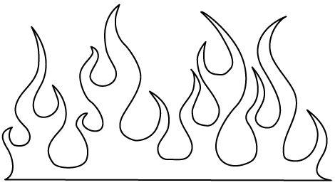 Flames coloring #3, Download drawings