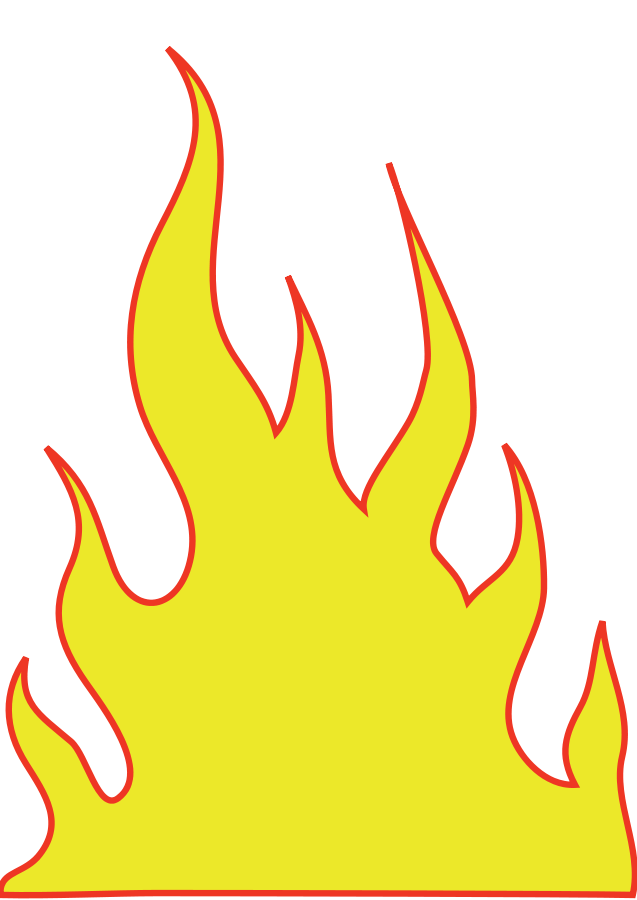 Flames clipart #4, Download drawings