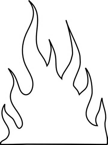 Flames coloring #7, Download drawings