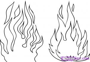 Flames coloring #5, Download drawings