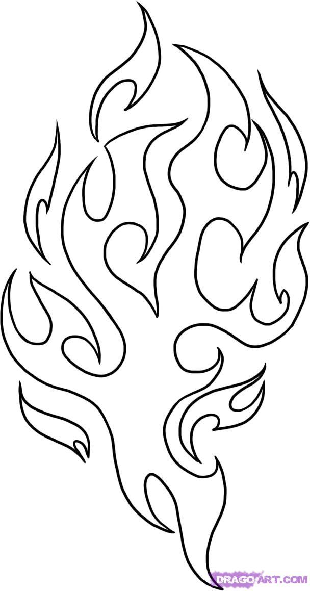 Flames coloring #8, Download drawings