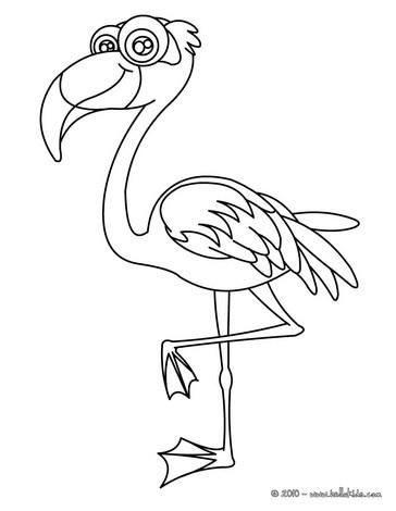 Flamingo coloring #11, Download drawings