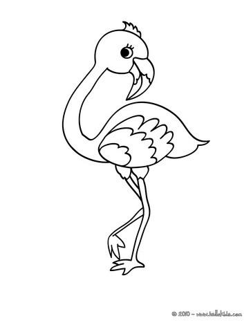 Flamingo coloring #16, Download drawings