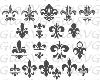 Fleur-de-lis svg #5, Download drawings