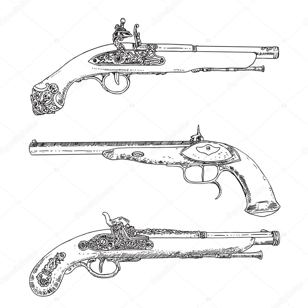 Flint Lock coloring #3, Download drawings
