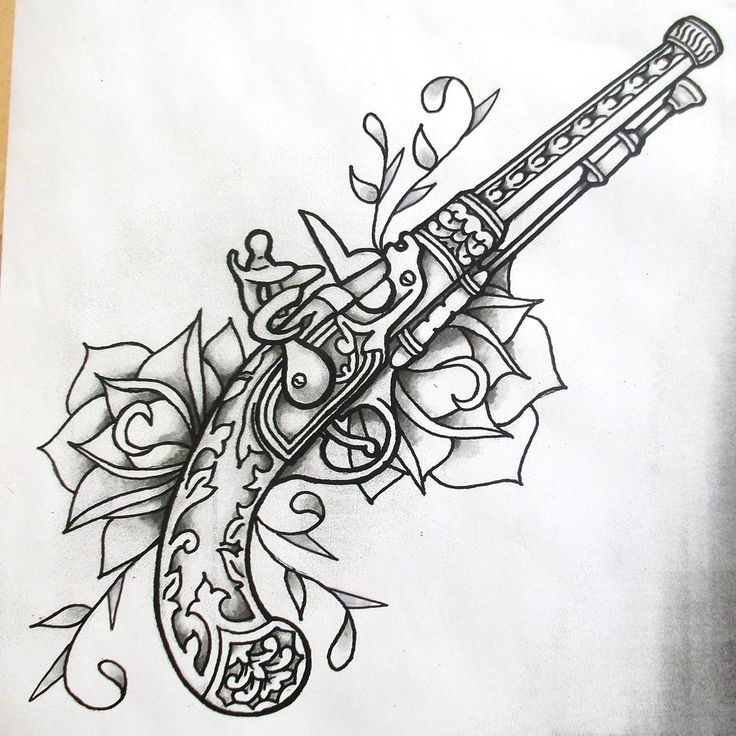 Flint Lock coloring #1, Download drawings