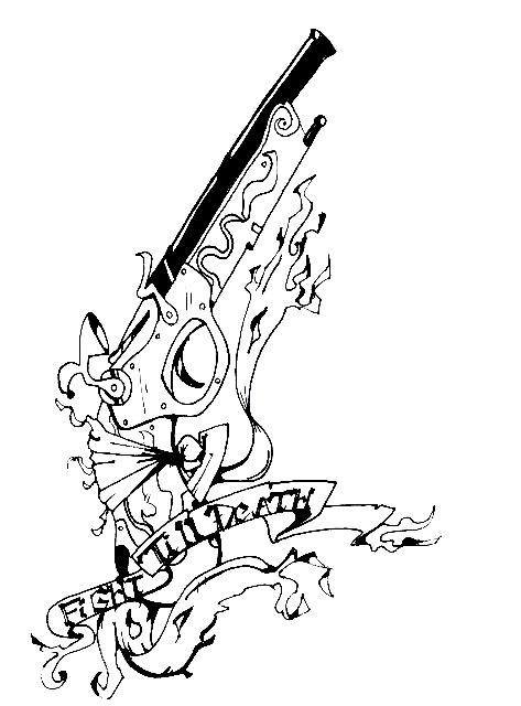 Flint Lock coloring #18, Download drawings