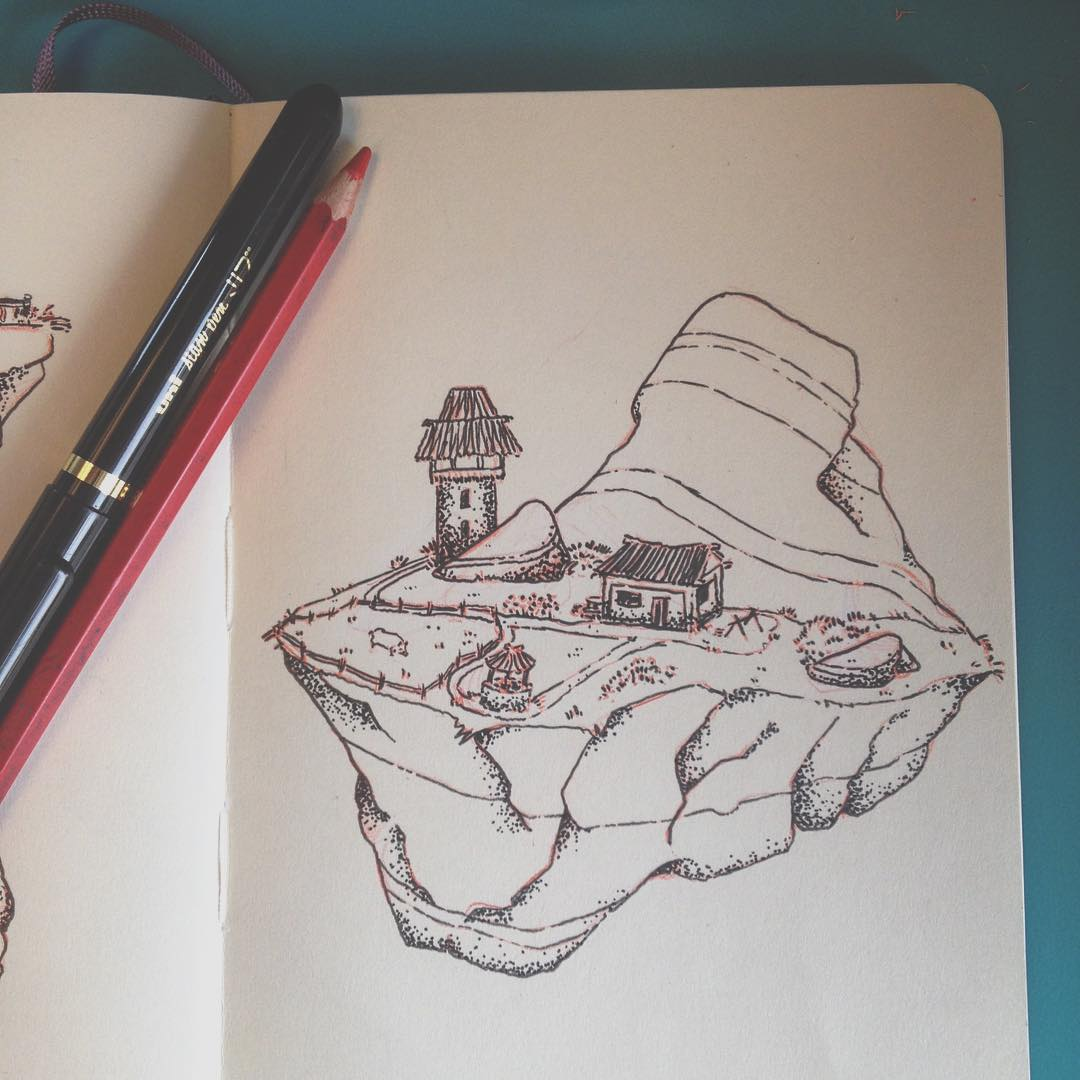 Floating Island coloring #7, Download drawings
