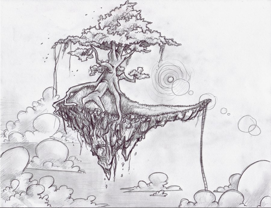 Floating Island coloring #8, Download drawings