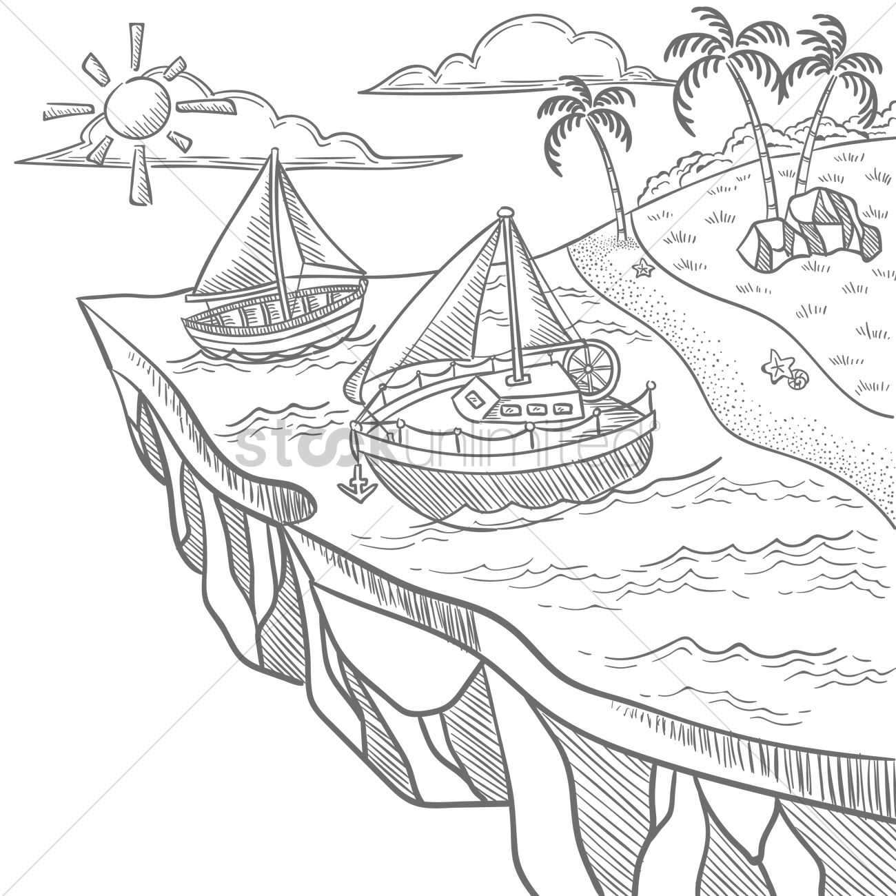 Floating Island coloring #17, Download drawings